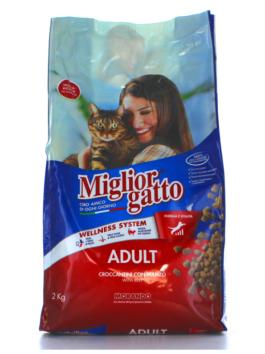Hrană uscată pentru pisici Miglior Gatto Adult cu vită 2kg