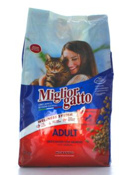 Hrană uscată pentru pisici Miglior Gatto Adult cu somon 2kg
