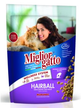 Hrană uscată pentru pisici Miglior Gatto Hairball cu pui 400g