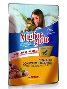 Hrană umedă pentru pisici Miglior Gatto cu pui și curcan 100g