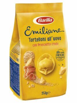 Tortelloni cu ou, prosciutto crudo și parmigiano Barilla Le Emiliane 250g