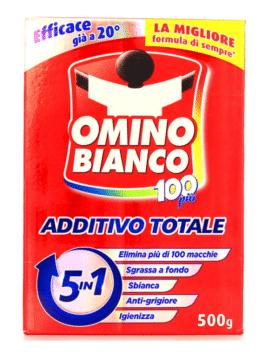 Aditiv pentru rufe 5 în 1 pulbere Omino Bianco 500g